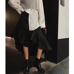 crossover flare skirt