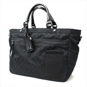 HARVEST LABEL 「PAROGRAM」 2WAY TOTE <BLACK>