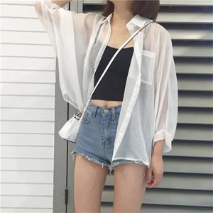 【tops】シンプル無地合わせやすいシャツ22404189