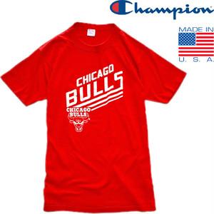 1点物◆USA製ビンテージ80sチャンピオンBULLSブルズTシャツ古着メンズMレディースOKアメカジ90sストリート/スポーツMixアメリカ製NBA419603