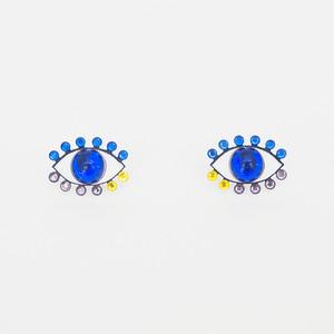 Medama Pierces / Earrings(S) -blue-
