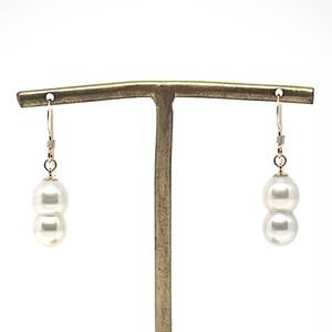 【希少!!】あこや本真珠の双子(ツインパール)のピアスQ