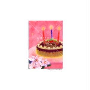 【選べるポストカード3枚セット】No.142 クリスマスケーキ