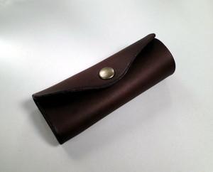 イタリアンレザー 革のキーケース[こげ茶]しっくりくるキーケース