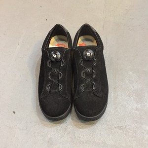 ptarmigan  suede court shoes  black