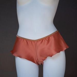 new PF002 / フレアショーツ Orange Pink x Apricot