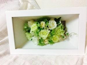 ウッドスタンドウィンドウ 【長方形】白フレーム