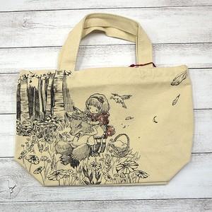 【嶋波誌麻】赤ずきんちゃんトートバッグ/手描きトート
