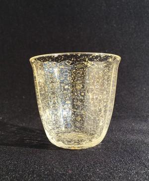 麻炭ガラス『オーロラ銀河(GOLD)酒盃』