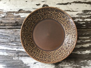 『BIRDS' WORDS』バーズワーズ PATTERNED PLATE パターンプレート smoke brown
