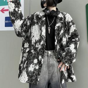 【アウター】視線集中ストリート系折り襟プリントグラデーション色シングルブレストジャケット41783294