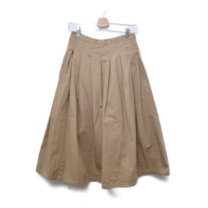 GRANDMA MAMA DAUGHTER / グランマママドーター   チノロングフレアスカート   1   ベージュ