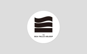 the sea falls asleep ロゴステッカー