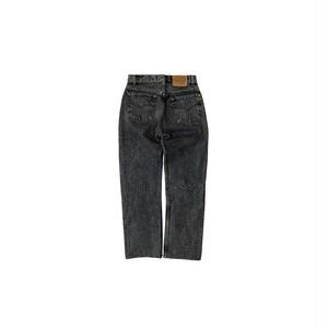 "90's ""LEVI'S / 501"" (実寸W30) YARN DYED BLACK DENIM PANTS"