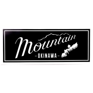 Mountain Original LOGO ステッカー / 枠Black