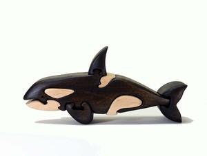 シャチの木製パズル