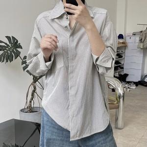 「2021先行AW商品」カジュアルチェックオーバーサイズシャツ LLFZ1547