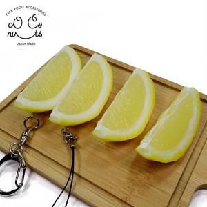 レモン くし切り 食品サンプル キーホルダー ストラップ