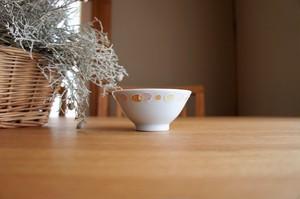 砥部焼/水玉こども茶碗/赤/大西陶芸