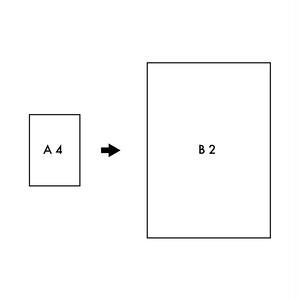 [B2]へサイズアップ