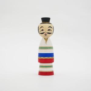 支倉常長 こけし(小) 平賀輝幸工人(作並系) #4-19 伝統こけし
