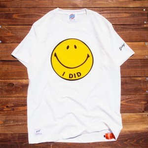 "【DARGO】""I DID"" Smile Face T-shirt (NATURAL)"
