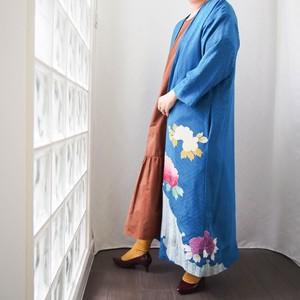 KIMONO Long Coat -ヴィンテージの着物を使ったロングガウンジャケット