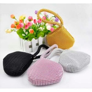 Small Soft Beaded Pouch Clutch Evening Bag Purse Bag (COS99-0247504)