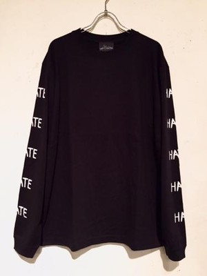 "LONG SLEEVE Tee ""HATE"" (BLACK)"