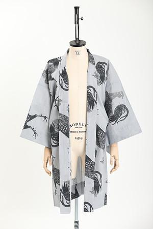 羽織 / 伊藤若冲 / 軍鶏 / Gray(With tailoring)