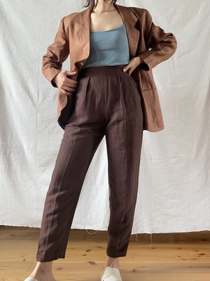 Linen-blend Tapered Pants