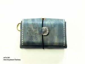 【サンプル品SALE】コンパクト財布01 ブルーグレー OD-W-01-01-sale