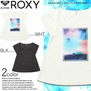 ロキシーレディース オススメ 人気 半袖 UVカット オリジナル Tシャツ 選べる 2 カラー ホワイト ブラック フォントプリント 白黒 TOY BOX ROXY RLY181028