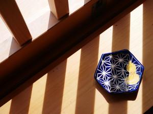 オリジナル盛り塩皿「麻の葉と瓢箪」