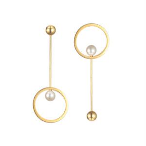 circle pearl asymmetry pierce