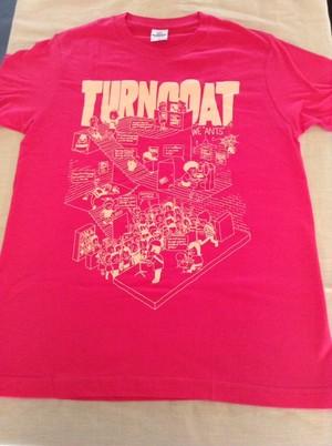 """TURNCOAT """"ライブハウスデザイン"""" / Tシャツ ピンク"""