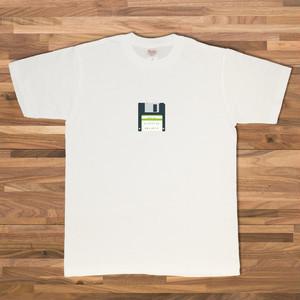 フロッピーディスク Tシャツ/ホワイト【CWE-045WH】