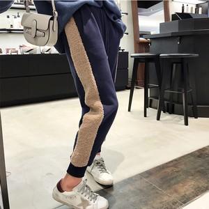 【bottoms】厚くてカジュアル配色履きやすいパンツ25273435