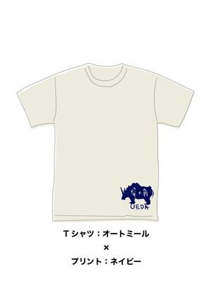 LIBERTE × 横向きサイ Tシャツ(オートミール)