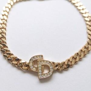 """Dior"" gold chain bracelet[h-45]"