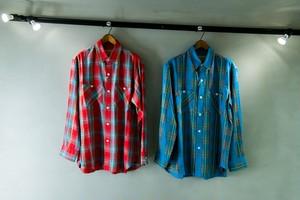 SEVEN BY SEVEN レーヨンツイルチェックシャツ
