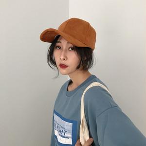 【小物】新作秋冬合わせやすい無地ファッションスエード生地帽子