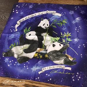 コットンハンカチ■「星に願いを」柄 限定数量販売品