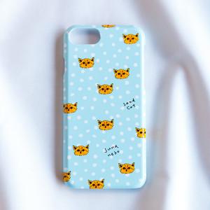 iPhoneケース/スナネコたち・ブルー(iPhone全機種対応)