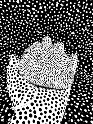 ドットNo.5 white × black