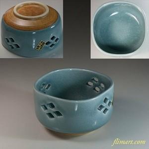 青磁透かし小鉢W6751