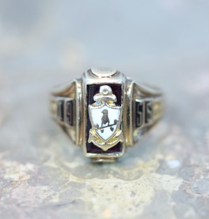 .10K 1950's VINTAGE COLLEGE RING/1956年10金ヴィンテージカレッジリング 2000000031613