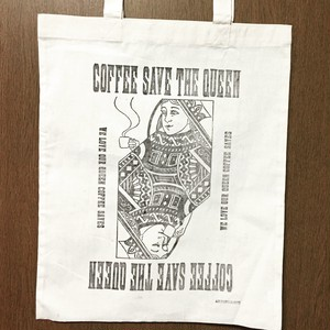 """COFFEE SAVE THE QUEEN "" トートバッグ"