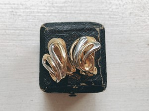 Vintage gold&silvercolor earring