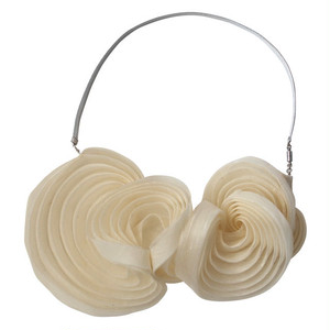 Pleated necklace White